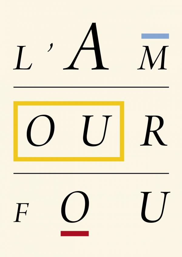 Couverture de l'oeuvre poétique d'André Breton, L'amour fou, 1937