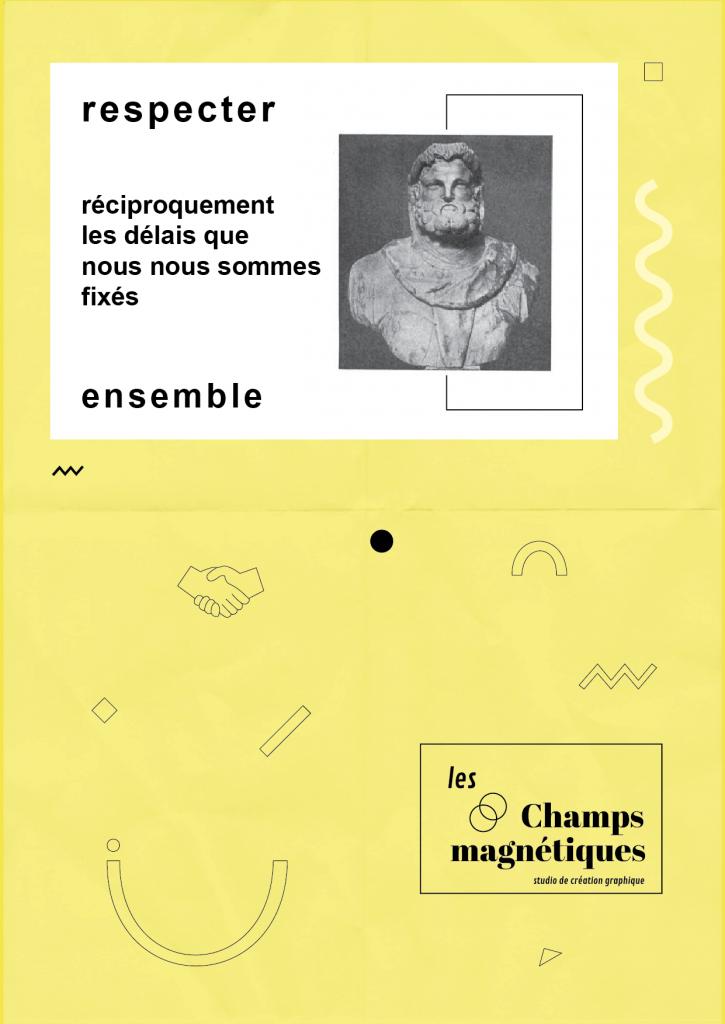 Charte illustrée, Les champs magnétiques, respect des délais