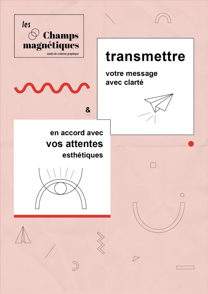 Les champs magnétiques, charte illustrée, clarté et esthétique